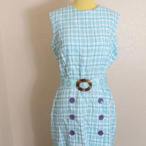 Vintage Cohama Dress Sz 18 Shift Deadstock Plaid